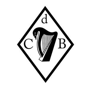 Poinçon de maître de Constance du Bellay représentant un cygne et une harpe celtique.